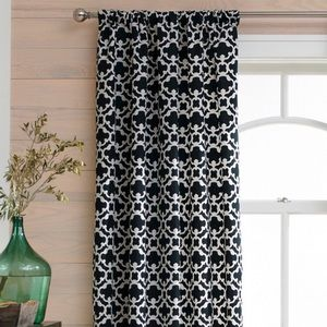 Black/White Single Curtain Panel by Threshold